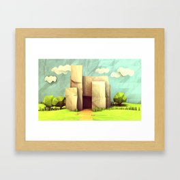 Paper House Framed Art Print