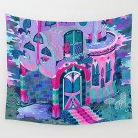 house Wall Tapestries featuring Bertram's House by Valeriya Volkova
