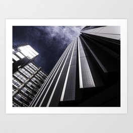 Urban Chrome Structure Art Print
