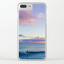 Surfin' in a Pastel Dream - Honolulu, Hawaii Clear iPhone Case