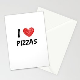 I Love Pizzas Stationery Cards