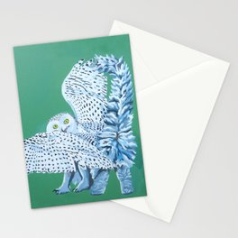 Cat Owl Stationery Cards