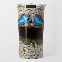 Blue Morpho Butterfly by Teresa Thompson Travel Mug