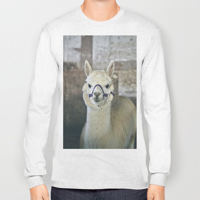 White Alpaca  Long Sleeve T-shirt