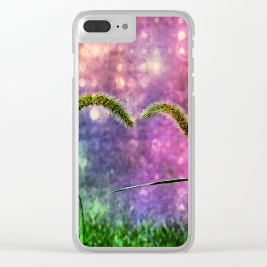 Grass Duo Love And Sparkle Clear iPhone Case