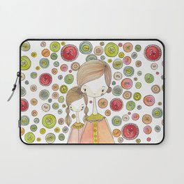 Motherhood Button Collection Laptop Sleeve