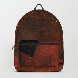 Untitled (City On Fire) by Zdzisław Beksiński Backpack