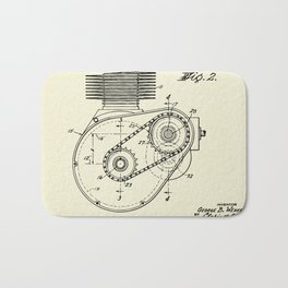 Shaft Drive for Motorcycles-1943 Bath Mat