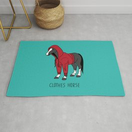 Clothes Horse Red Rug