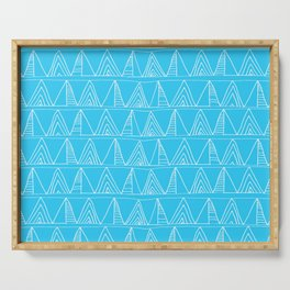Triangles- Simple Triangle Pattern for hot summer days - Mix & Match Serving Tray