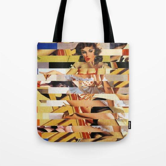 Glitch Pin-Up Redux: Vanessa  Tote Bag