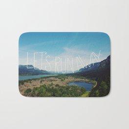 Let's Run Away: Columbia Gorge, Oregon Bath Mat