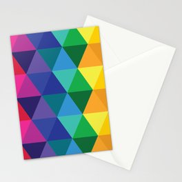 Geometric Galaxy - All the Colors of the Rainbow Stationery Cards