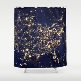 Gold map Shower Curtain