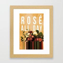 Rosé All Day in Peach Framed Art Print