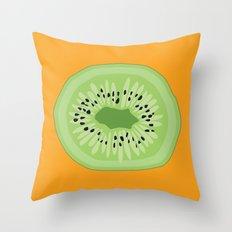 Kiwi Kraze Throw Pillow