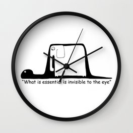 The Little Prince. Boa, elephant or hat. Wall Clock