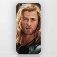 thor iPhone & iPod Skins featuring Thor by LindaMarieAnson
