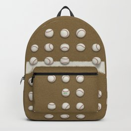 Balls On Brown Field Backpack