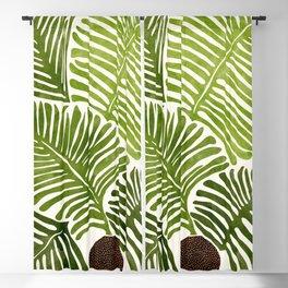 Summer Fern / Simple Modern Watercolor Blackout Curtain