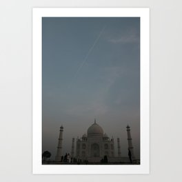Taj dawn with a jet flyby Art Print