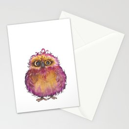 Funny little owl Stationery Cards
