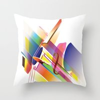 cello Throw Pillows featuring Cello Uno by Simon Vinh