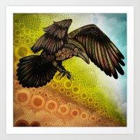 raven Art Prints featuring Raven by Alohalani
