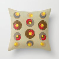 blankets Throw Pillows featuring Tendency by Metron