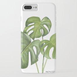 Monstera deliciosa 3 Leaves iPhone Case