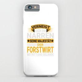 Forstwirt Design für einen  Waldarbeiter iPhone Case