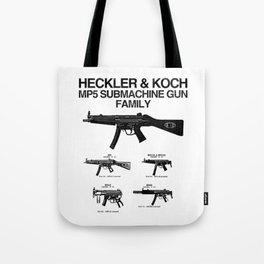 MP5 SUBMACHINE GUN FAMILY Tote Bag