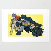 BatFambly Mini-Print Art Print