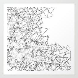 Minimalist origami Art Print