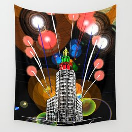 Queen City New Year Wall Tapestry