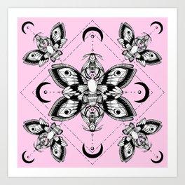 Assortment of Pastel Goth Moths Art Print