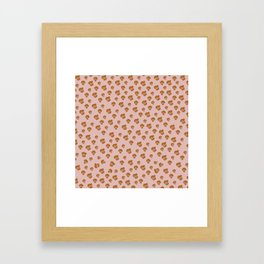 Leopard Print in pink Framed Art Print