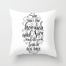 Heir of Ash and Fire Throw Pillow