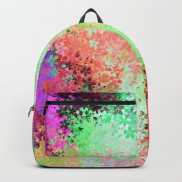 flower pattern abstract background in green pink purple blue Backpack