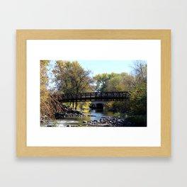 Bridge Over Calm River Photo Framed Art Print