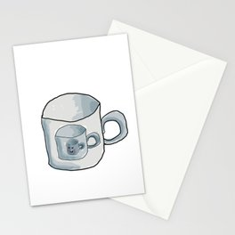 Cute Cup of coffee Stationery Cards