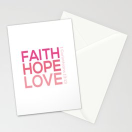 Faith Hope love,Christian,Bible Quote 1 Corinthians13:13 Stationery Cards