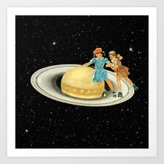 Stroll on Saturn Art Print