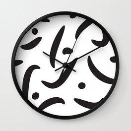 Dots and Stripes Wall Clock