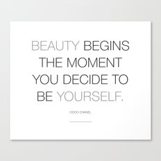 Beauty begins Canvas Print