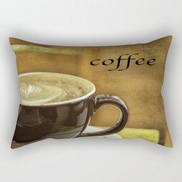 cappuccino coffee textured art Rectangular Pillow