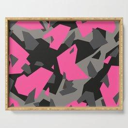 Black\Grey\Pink Geometric Camo Serving Tray