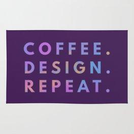 Coffee Design Repeat Rug