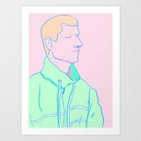 kobe Art Prints featuring Kobe by Autumn James