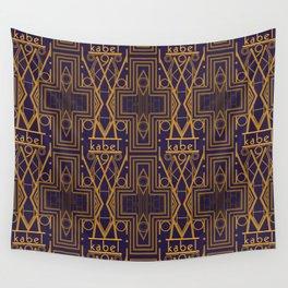 Kabel Type Portrait Purple Wall Tapestry